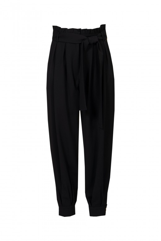 Papperbag pants with belt