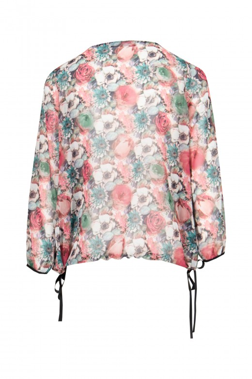 Floral tunic with v-neck