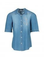 Shiny denim shirt