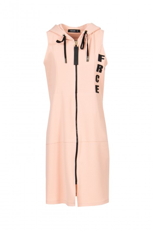 Vest dress with zipper