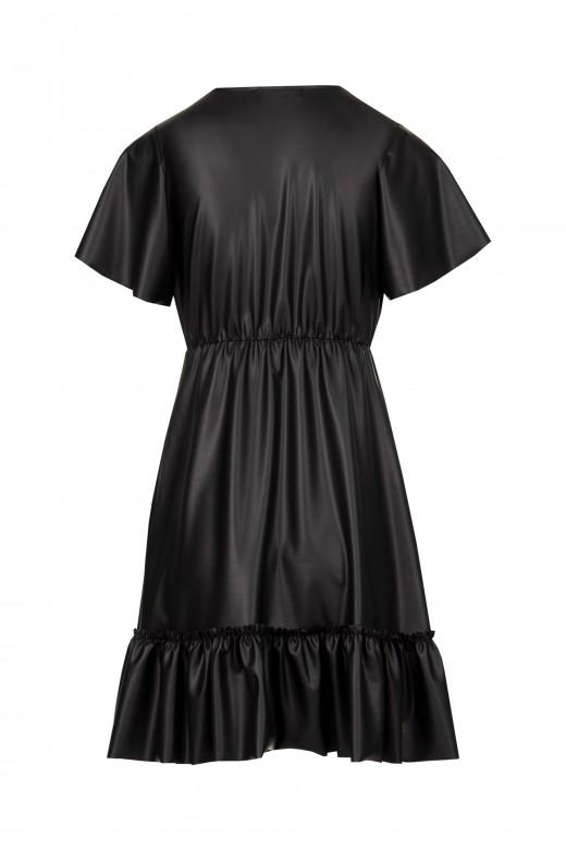 Ecopele dress with lace