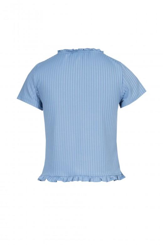 Camisola curta com folho