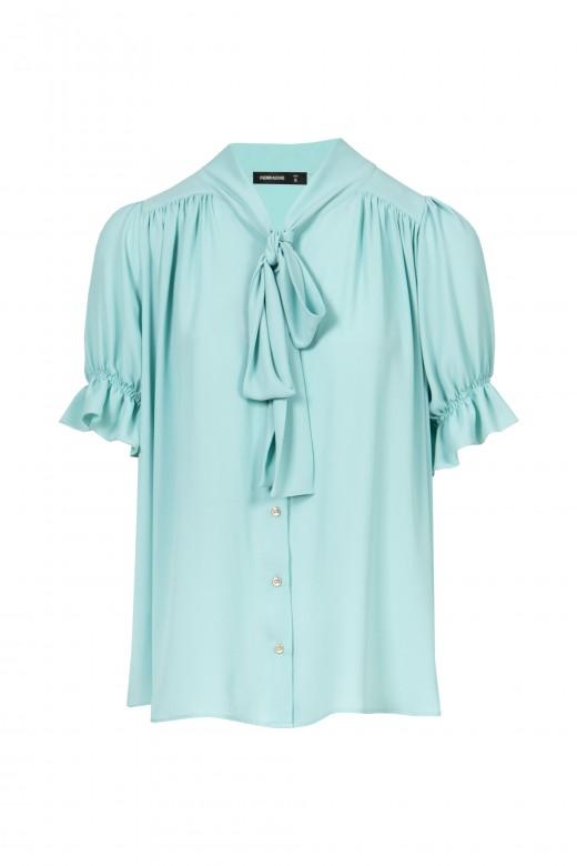 Blusa com laçada e drapeada blusa com laçada e drapeada blusa com laçada e drapeada blusa com laç
