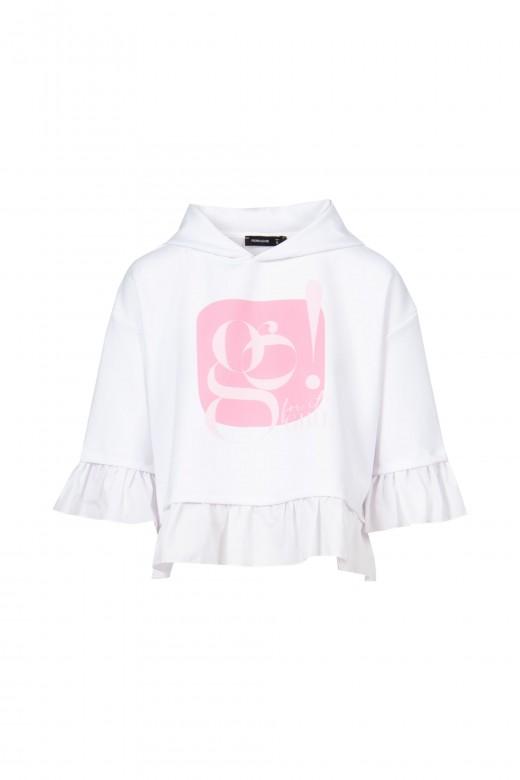 Shirt ruffle sweater
