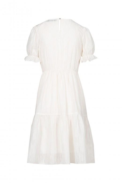 Vestido blanco metalizado