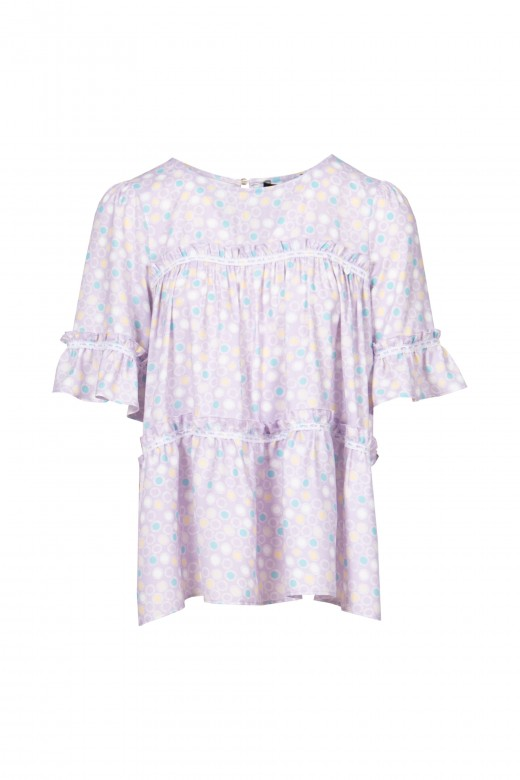 Tunic with frills