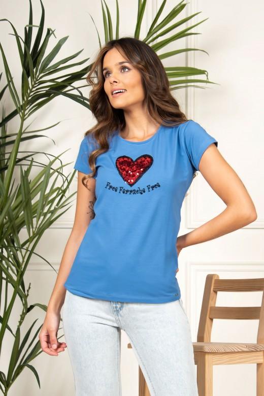 Camiseta con aplicación de lentejuelas