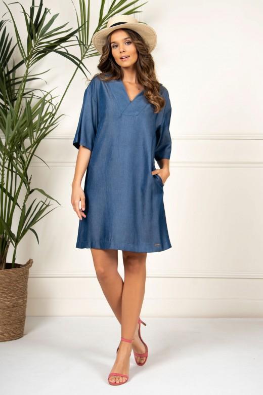 Thin denim dress