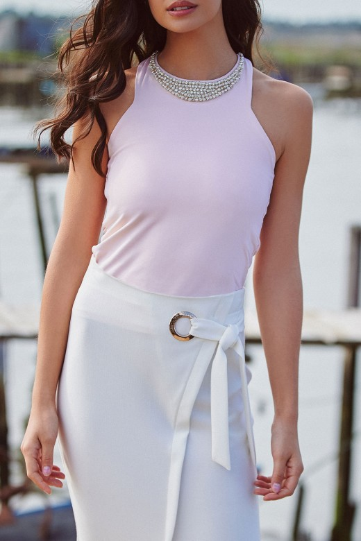 Top necklace with sparkle