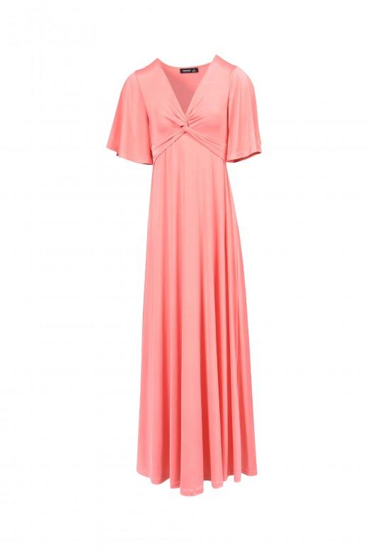 Knot dress in front será que quis dizer: vestido nó na frente vestido comprido florido de manga cur