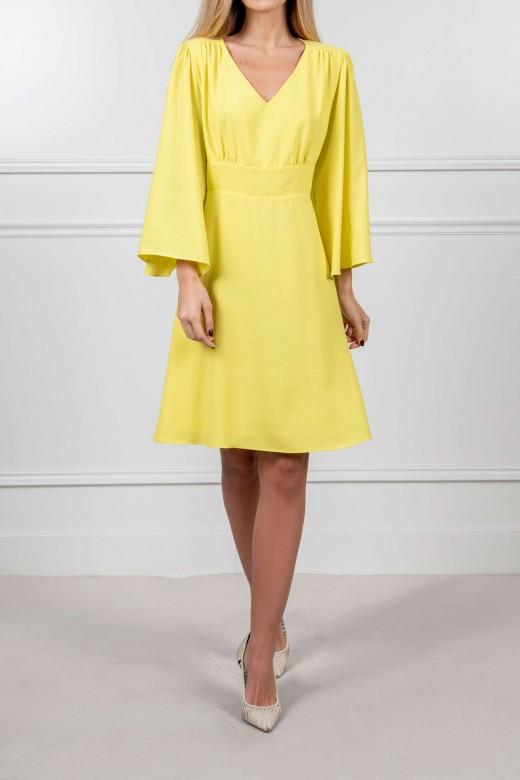 Asymmetrical sleeve dress