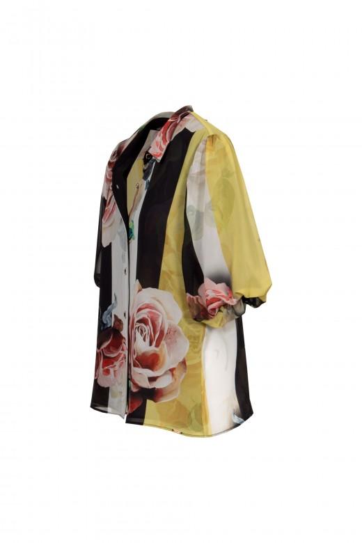Blended sleeve blouse