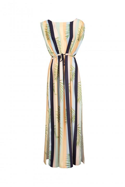 Vestido de rayas con espalda abierta