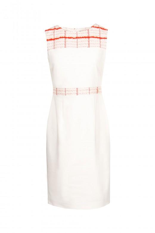 Vestido de tubo de chanel