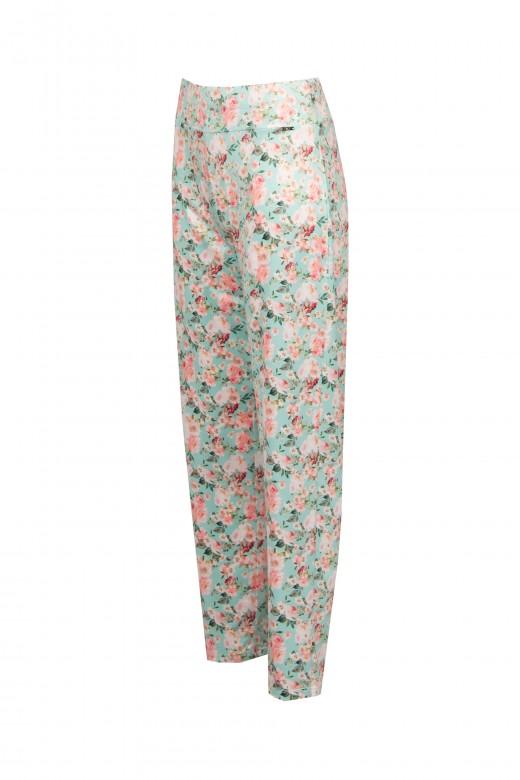 Floral lycra pants