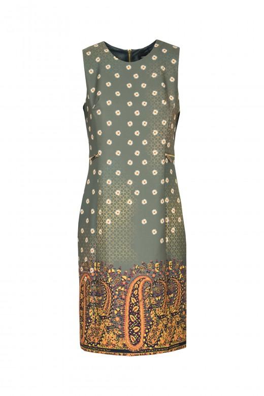 Vestido florido con cremalleras