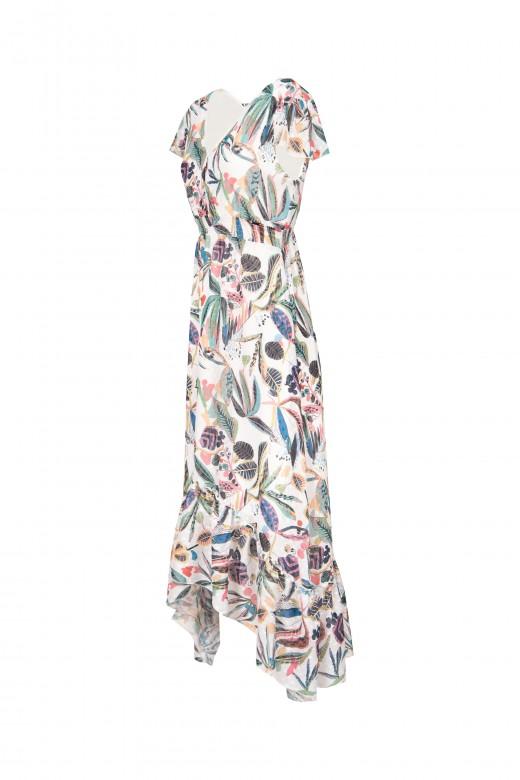 Midi dress with back neckline