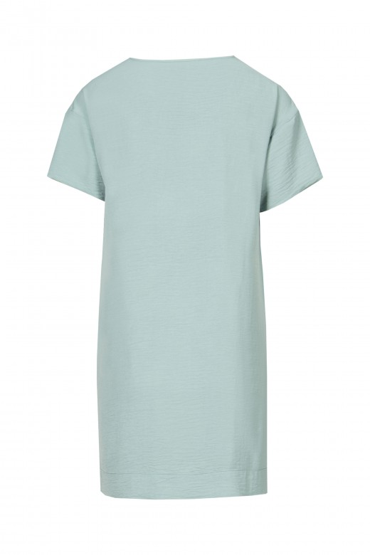 Fluid short-sleeved dress