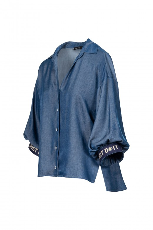 Thin denim blouse