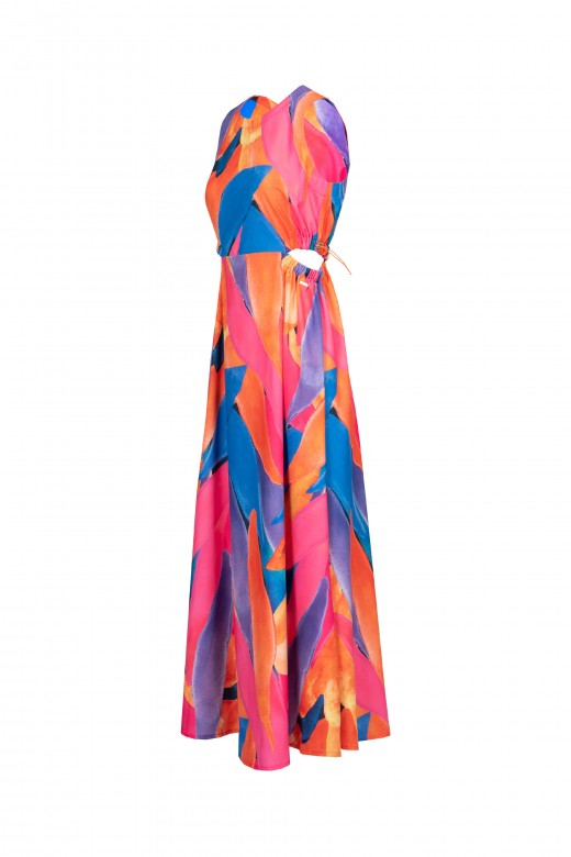 Long dress with openings