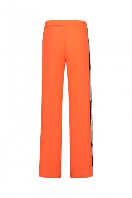 Pantalona lisa com logo