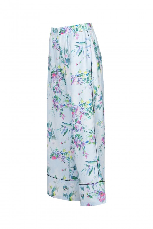 Culotte pants with piping
