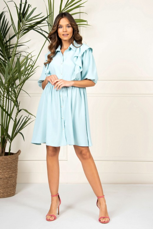 Short dress with frill detail