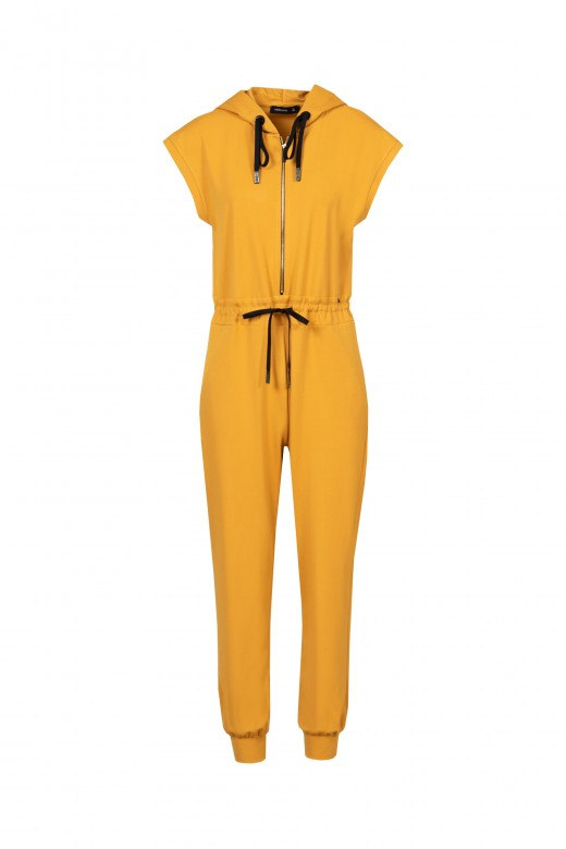 Custom hooded jumpsuit
