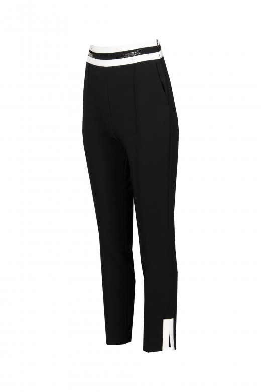High waisted trousers with split