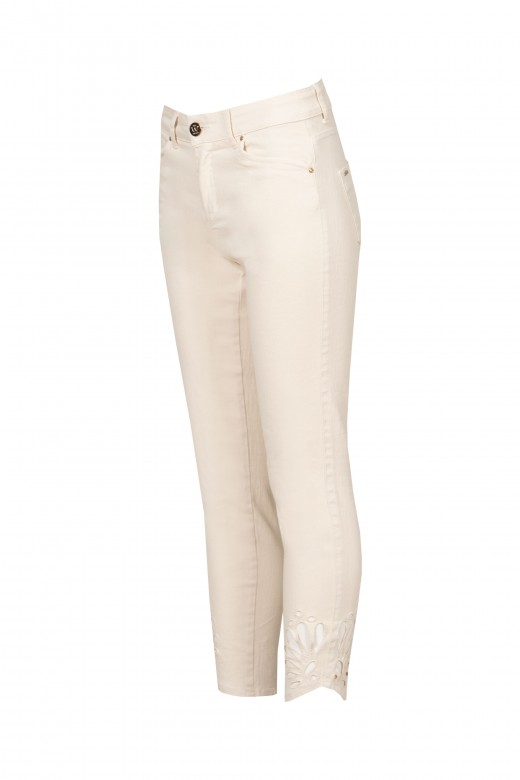 Jeans with cutout detail