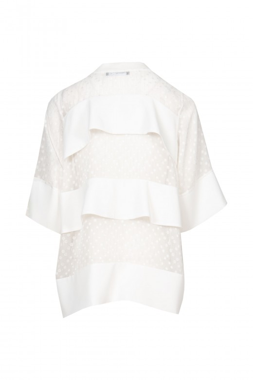 Transparent jacket with frills