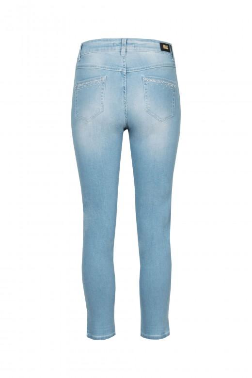 Skinny jeans with shiny finish