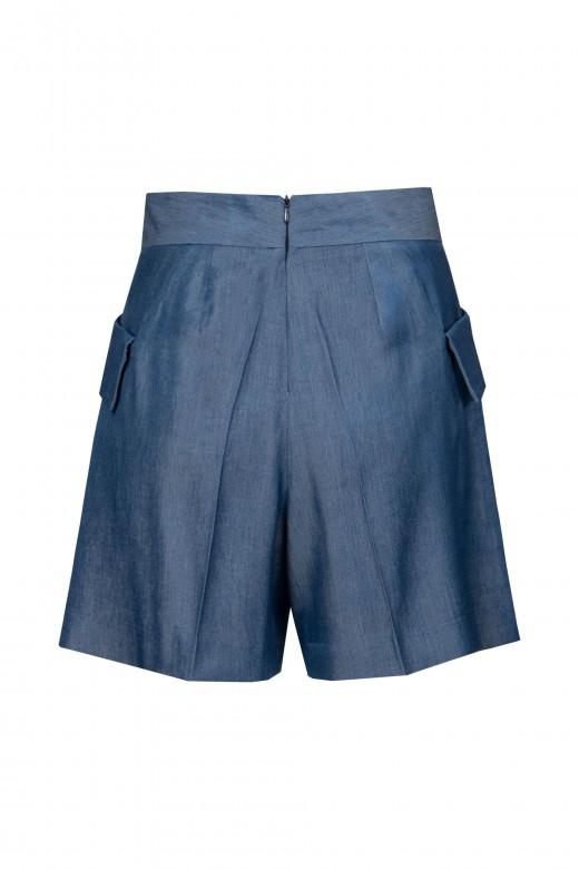 Thin denim shorts