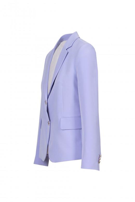 Long-sleeved belted blazer