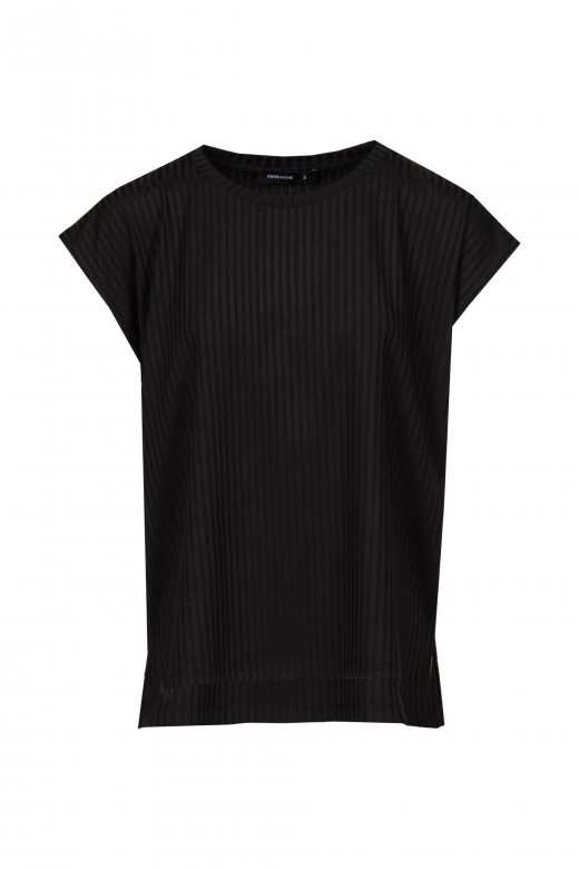 Ribbed knitted tunic