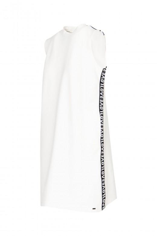 Sport mesh dress with slash love