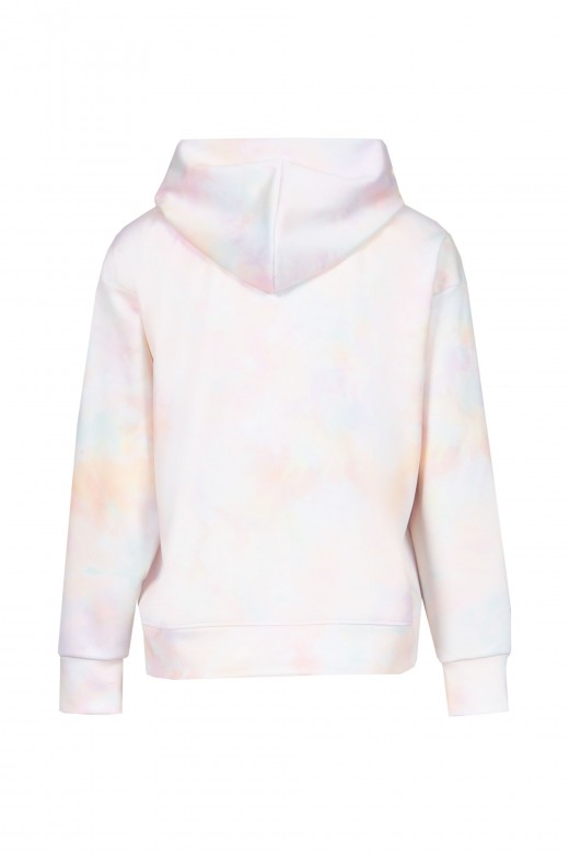 Hooded sweater with embroidery
