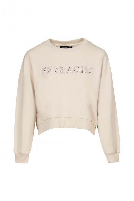 Sweater malha aplicação brilho