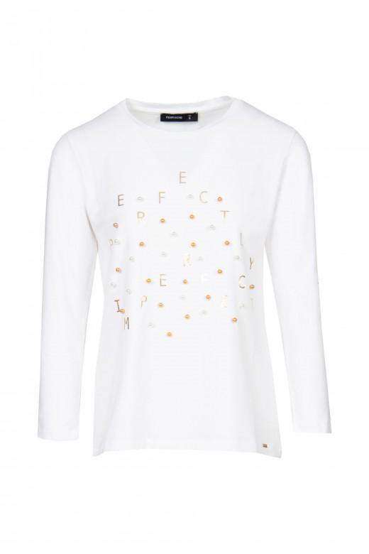 Pearls and ribbon logo s-shirt