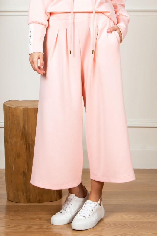 Cullote pants with pleats