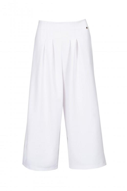 Pantalón cullote con pliegues
