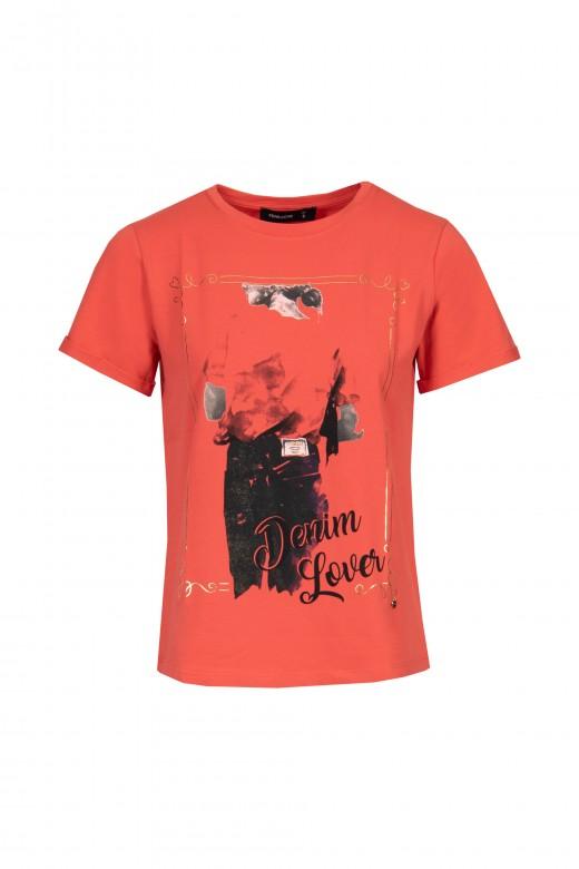 Camiseta estampada denim lover