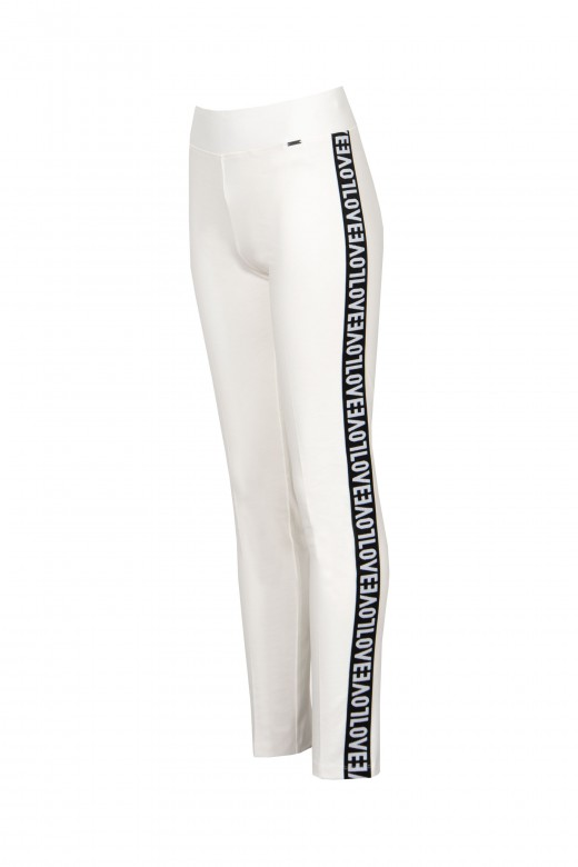 Legging with side stripes love