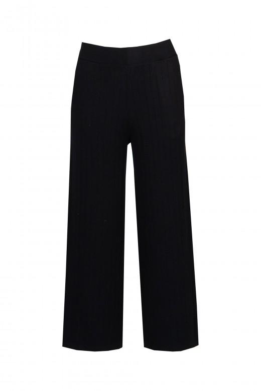 Conjunto de malha com atilho lateral calça cullote