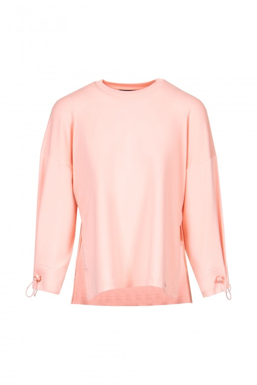 Knitted sweat with cuff adjustment