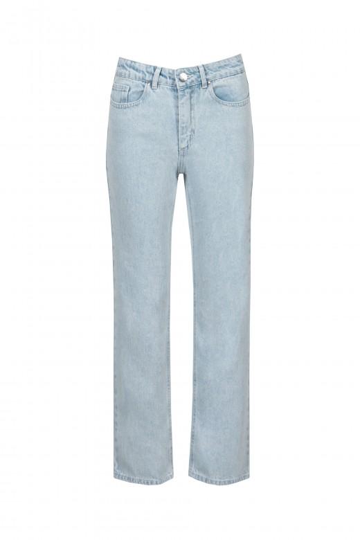 Straight leg jeans logo bolso costas