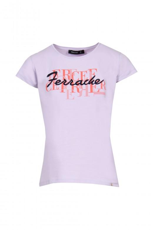 T-shirt imprimé brodé