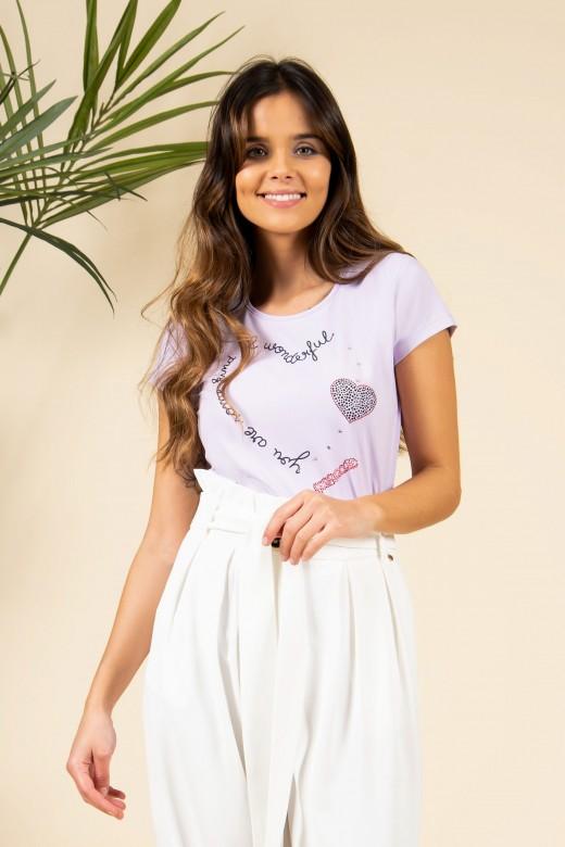 T-shirt estampada wonderful