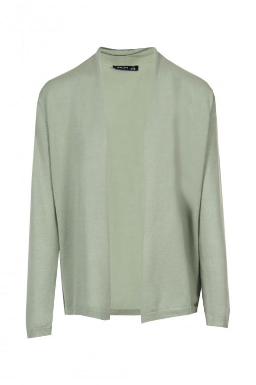 Basic rib knit jacket