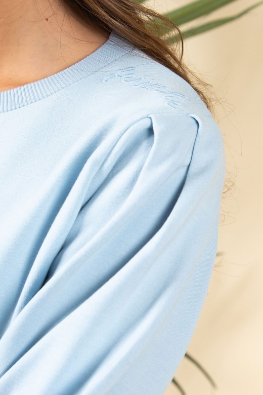 Sweat malha boradado no ombro